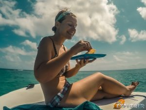 Belize Caye Caulker Lionfish Ceviche Boat Scuba Diving Backpacker Backpacking Travel