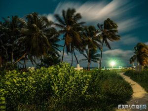 Belize Caye Caulker Pirate Cemetery Night Long Time Exposure Backpacker Backpacking Travel