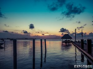 Belize Caye Caulker Sunset Boats Backpacker Backpacking Travel