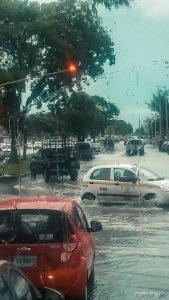 Mexico Chetumal Rain Flooded Streets Backpacker Backpacking Travel