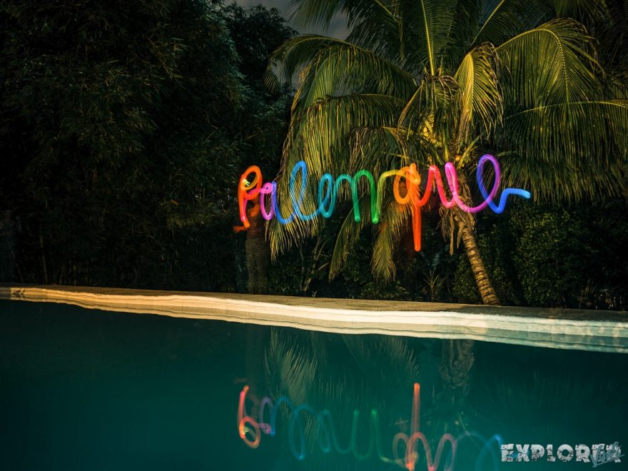Mexico Palenque Lightpainting Photography Pool Backpacker Backpacking Travel
