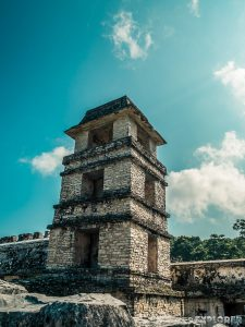 Mexico Palenque Maya Tower Backpacker Backpacking Travel