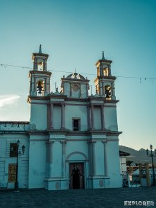 Mexico San Cristobal De Las Casas Iglesia de la Merced Sunset Backpacker Backpacking