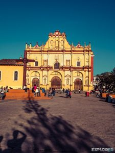 Mexico San Cristobal De Las Casas Plaza de la Paz Cathedral of Staint Christopher Backpacker Backpacking Travel