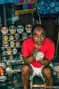Mexico Tulum Dia De Los Muertos Skull Artist Backpacker Backpacking Travel
