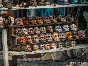 Mexico Tulum Dia De Los Muertos Skull Backpacker Backpacking Travel