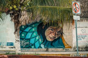 Mexico Tulum Maya Boy Graffiti Backpacker Backpacking Travel