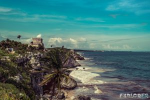 Mexico Tulum Temple Ruins Beach Backpacker Backpacking Travel
