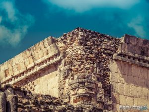 Mexico Merida Ruta Puuc Uxmal Face Wall Backpacking Backpacker Travel