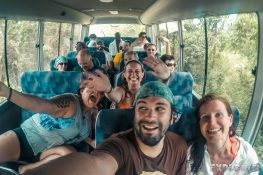 Panama Boquete After Rafting Bus Backpacking Backpacker Travel