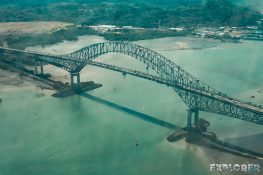 Panama City Canal Bridge Backpacking Backpacker Travel