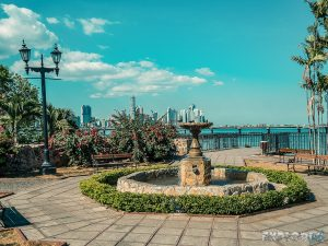 Panama City Casco Viejo Skyline Backpacker Backpacking Travel