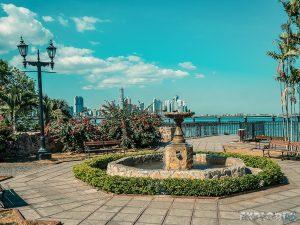 Panama City Casco Viejo Skyline Backpacker Backpacking Travel