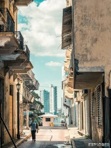 Panama City Casco Viejo Skyline Backpacking Backpacker Travel