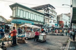 Panama City Pedestrian Street Market Backpacker Backpacking Travel