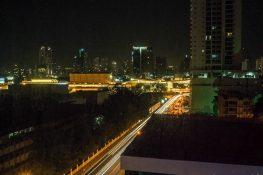 Panama City Skyline Night Backpacking Backpacker Travel