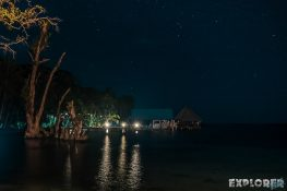 Panama Bocas Del Toro Isla Carenero Bibi on the Beach Night Backpacking Backpacker Travel