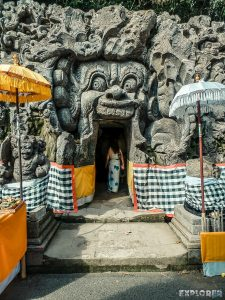 Indonesia Bali Goa Gajah Cave Entrance Face Backpacking Backpacker Travel