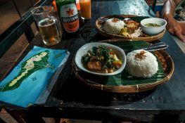 Indonesia Bali Ubud Nasi Ayam Dinner Backpacking Backpacker Travel