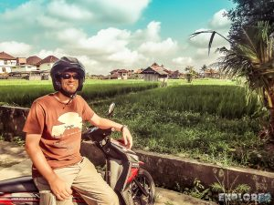 Indonesia Bali Ubud Ricefields Scooter Backpacking Backpacker Travel