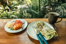 Indonesia Bali Ubud Sandat Homestay Dadar Gulung Pancake Breakfast Backpacking Backpacker Travel