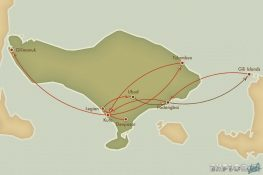 Route Indonesia Bali Ubud Padangbai Gili Trawangan Backpacker Backpacking Travel