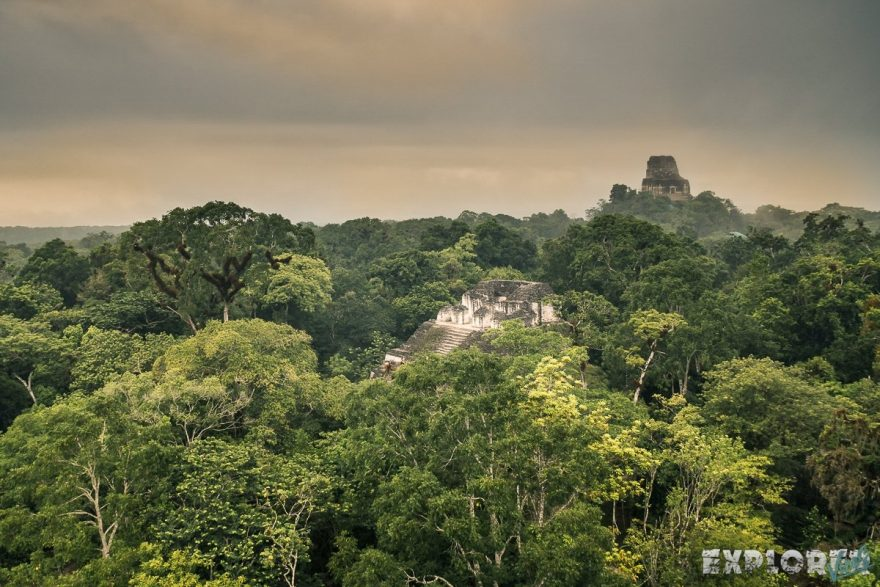 Guatemala Tikal Temple Ruins Backpacker Backpacking Travel