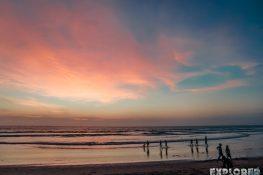 Indonesia Bali Kuta Sunset Beach Backpacking Backpacker Travel