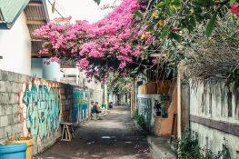 Indonesia Gili Trawangan Alley Graffiti Backpacker Backpacking Travel