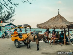 Indonesia Gili Trawangan Horse Carriage Backpacker Backpacking Travel