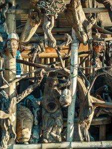 Indonesia Gili Trawangan Sunrise Carvings Wood Backpacker Backpacking Travel