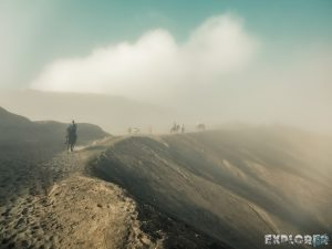Indonesia Probolinggo Mount Bromo Caldera Fog Smoke Backpacking Backpacker Travel