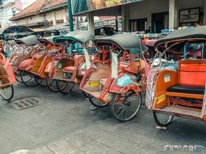 Indonesia Yogyakarta Rickshaw Backpacking Backpacker Travel