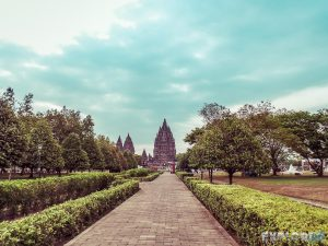 Indonesia Yogyakarta Prambanan Temple Garden Backpacking Backpacker Travel