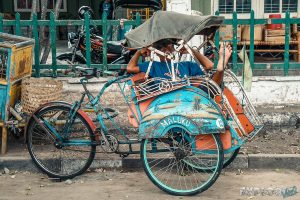 Indonesia Yogyakarta Rickshaw Driver Backpacking Backpacker Travel