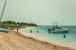 cuba trinidad playa ancon scuba diving boat beach backpacker backpacking travel