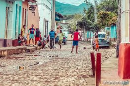 cuba trinidad streets football backpacker backpacking travel