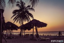 cuba varadero beach sunset backpacker backpacking travel
