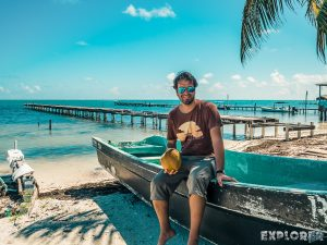 Belize Caye Caulker Coconut Backpacker Backpacking Travel