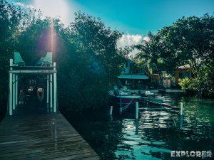 Belize Caye Caulker Pause Pier Backpacker Backpacking Travel