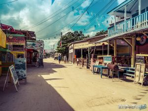 Belize Caye Caulker Street Backpacker Backpacking Travel