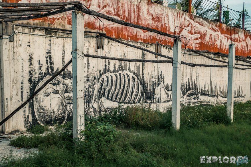 Mexico Tulum Graffiti Skeleton Backpacking Backpacker Travel