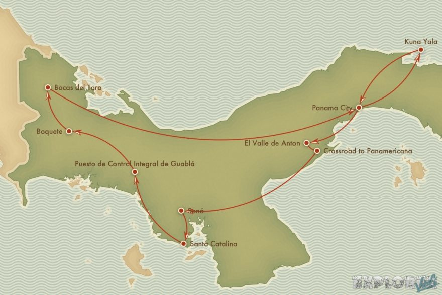 Route Panama Boquete Bocas Del Toro Backpacking Backpacker Travel