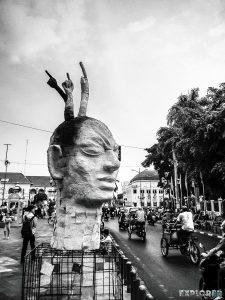 Indonesia Yogyakarta Art Head Backpacking Backpacker Travel