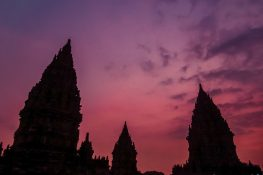 Indonesia Yogyakarta Prambanan Temple Sunset Backpacking Backpacker Travel