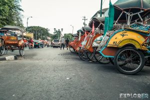 Indonesia Yogyakarta Rickshaw Backpacking Backpacker Travel 2
