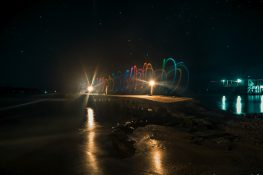 Panama Bocas Del Toro Isla Carenero Beach Lightpainting Night Backpacking Backpacker Travel