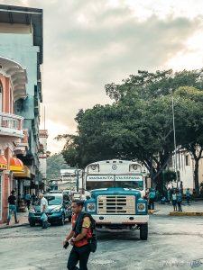 Panama City Chickenbus Backpacker Backpacking Travel