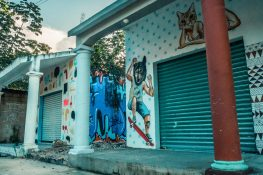 mexico tulum graffiti wolf backpacking backpacker travel