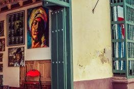 cuba trinidad paintings gallery backpacker backpacking travel